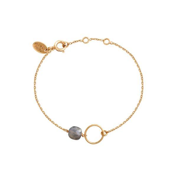 Bracelet doré Labradorite Fidji