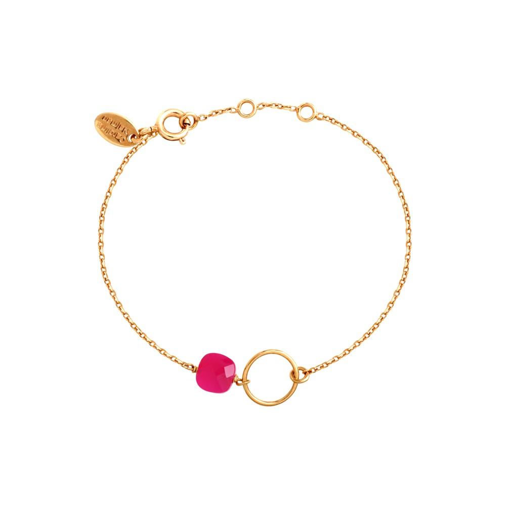 Bracelet doré Onyx rose Fidji