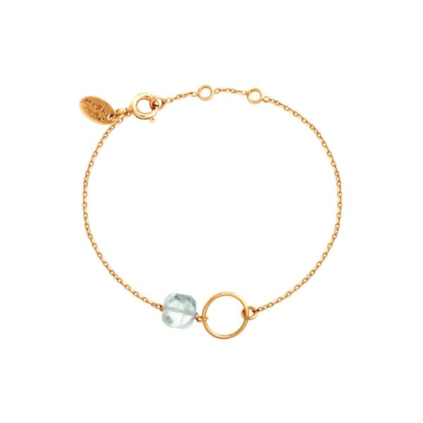 Bracelet doré aigue marine Fidji