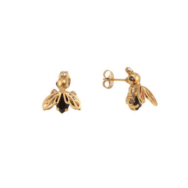 Boucles d'oreilles dorées Royal