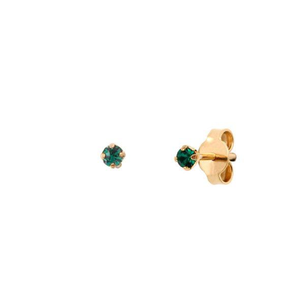 Boucles d'oreilles puces dorées Emerald Paris