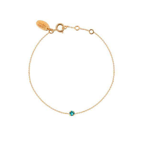 Bracelet doré Blue Zircon Paris