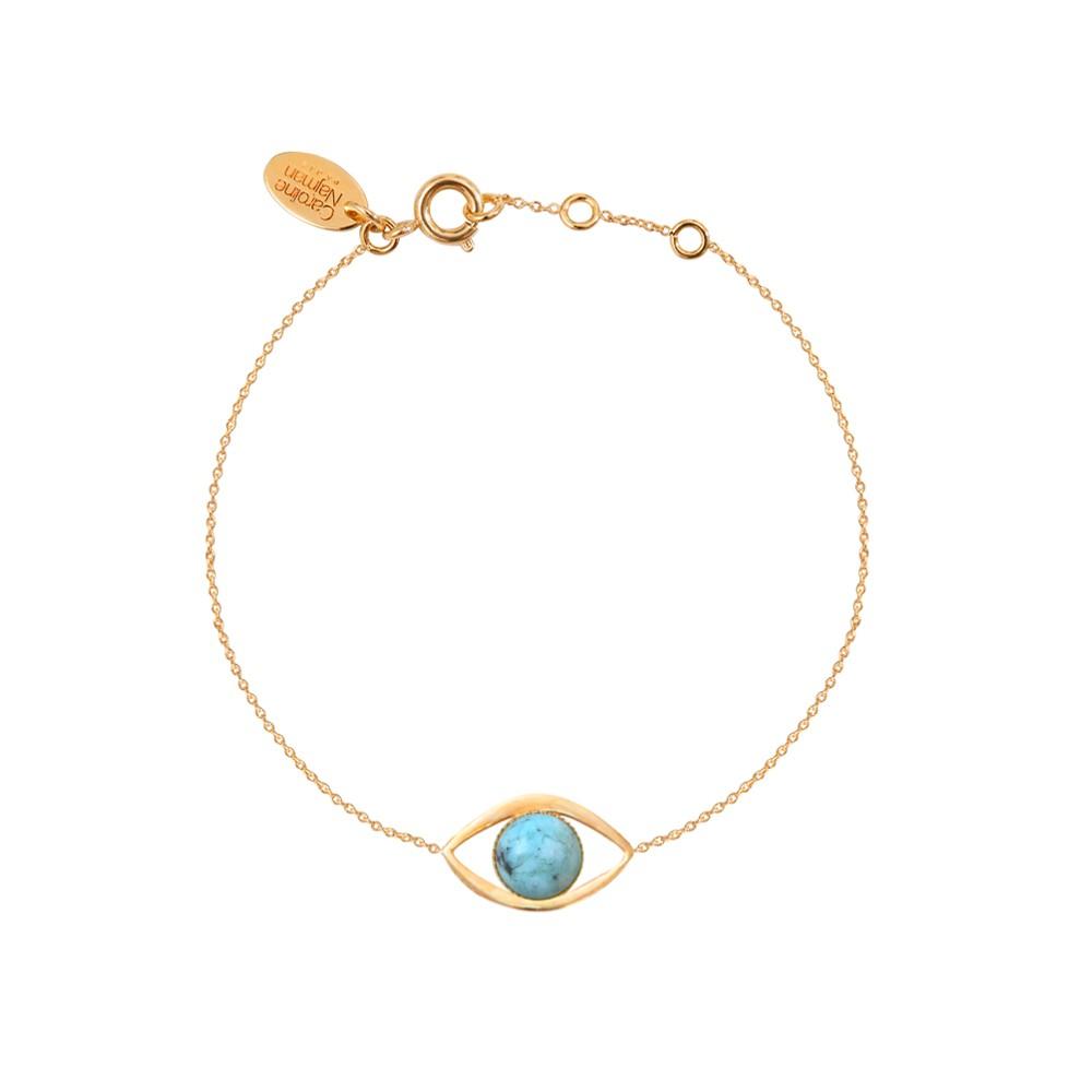 Bracelet doré jaspe africain Eros