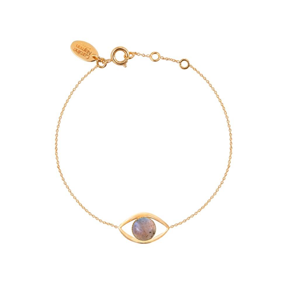 Bracelet doré labradorite Eros