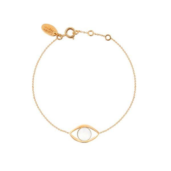 Bracelet doré nacre blanche Eros