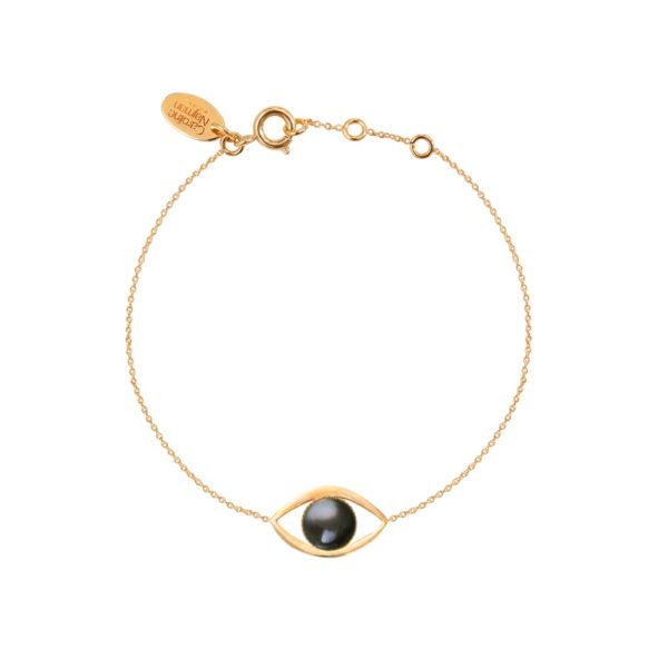 Bracelet doré nacre grise Eros