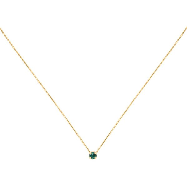Collier doré Emerald Paris
