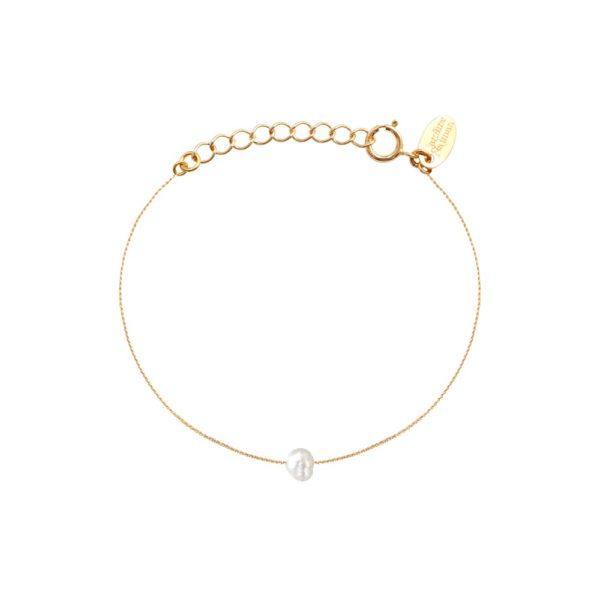 Bracelet doré perle d'eau douce blanche Queen Sea