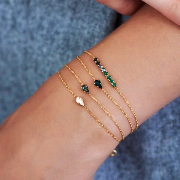 Bracelet doré Emerald Vendôme