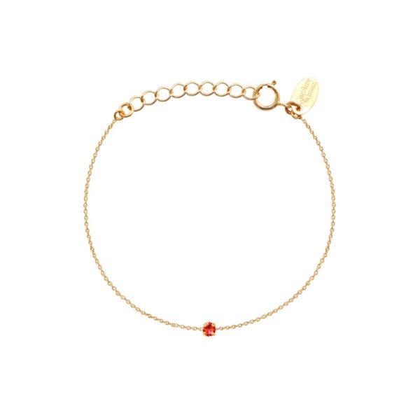 Bracelet doré Padparadscha Paris