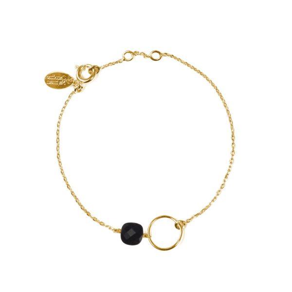 Bracelet doré onyx Fidji