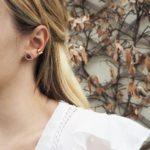 Boucles d'Oreilles puces dorées lapis lazuli Eros
