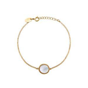 Bracelet doré nacre blanche Lady