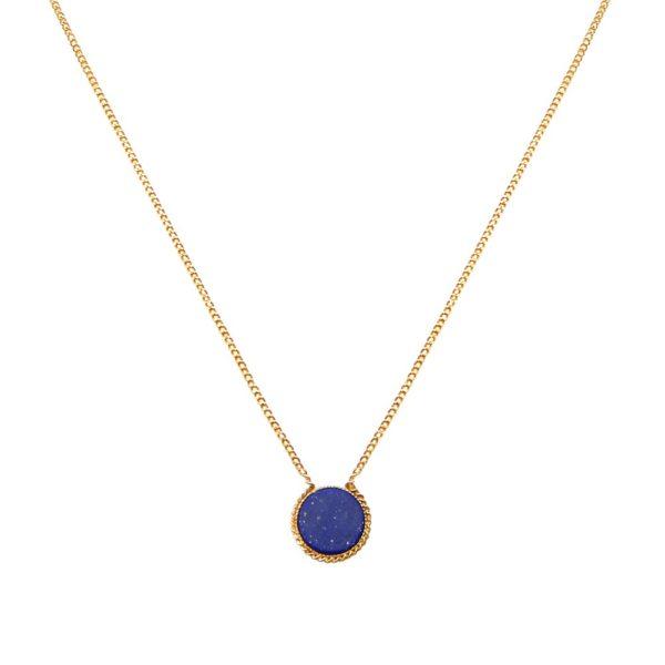 Collier doré lapis lazuli Lady