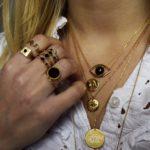 Bague ajustable dorée lapis lazuli Tribal