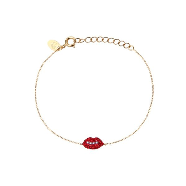 Bracelet doré Kuchi Mini Lips