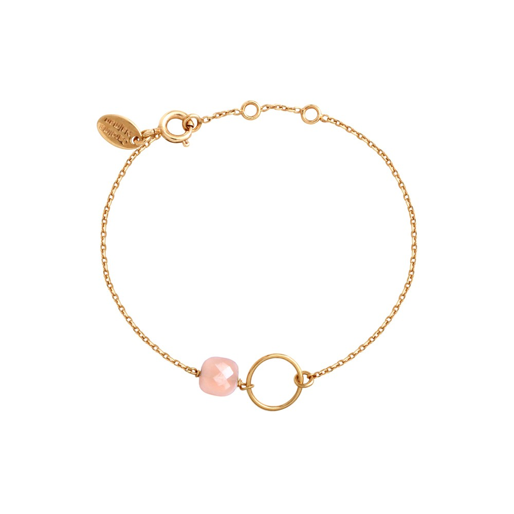 Bracelet doré opale rose Fidji