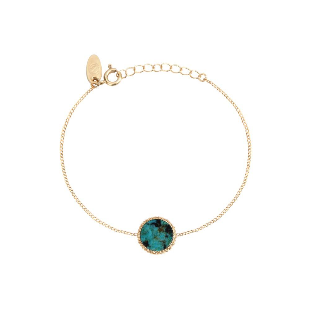 Bracelet doré jaspe africain Lady