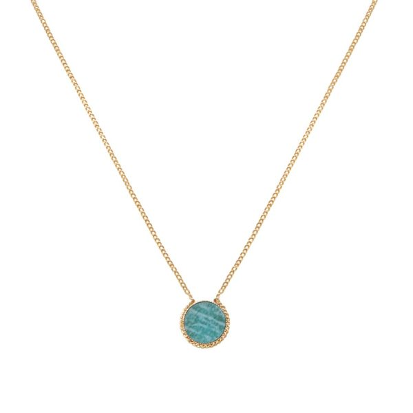 Collier doré amazonite Lady