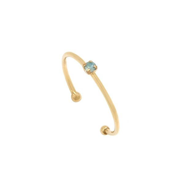 Bague ajustable dorée Pacific Opal Paris