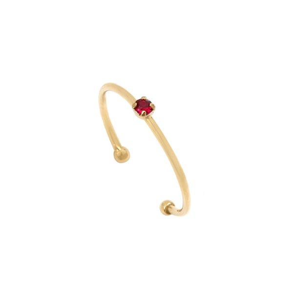 Bague ajustable dorée Ruby Paris