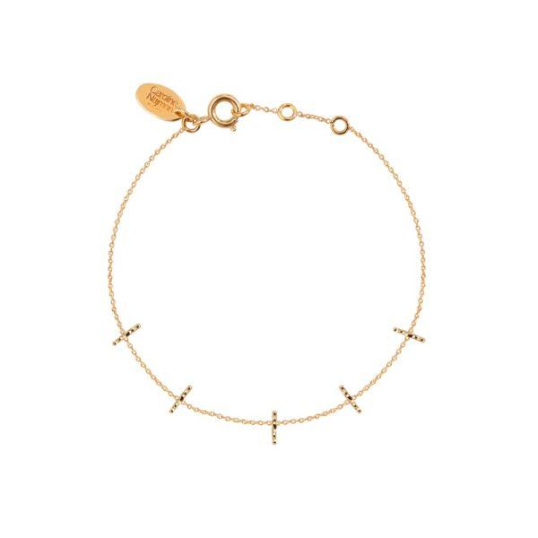 Bracelet doré barrette Disco
