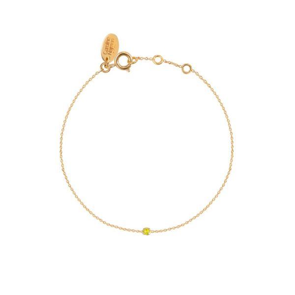 Bracelet doré Yellow Opal Paris