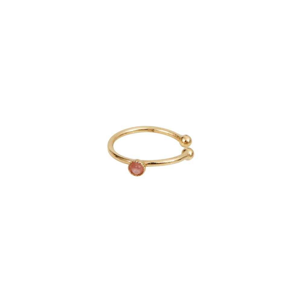 Bague d'Oreille dorée rhodochrosite Cab