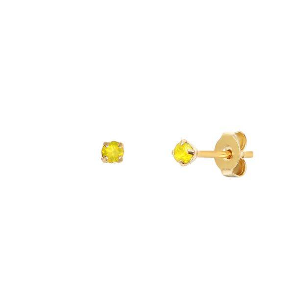 Boucles d'oreilles puces dorées Yellow Opal Paris