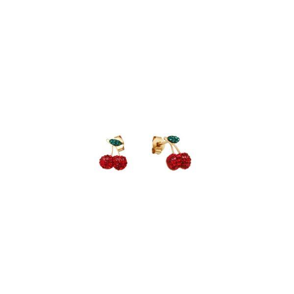 Boucles d'oreilles dorées Kuchi Cherry