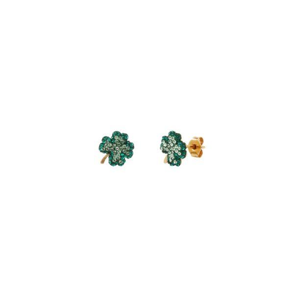 Boucles d'oreilles dorées Poker Clubs