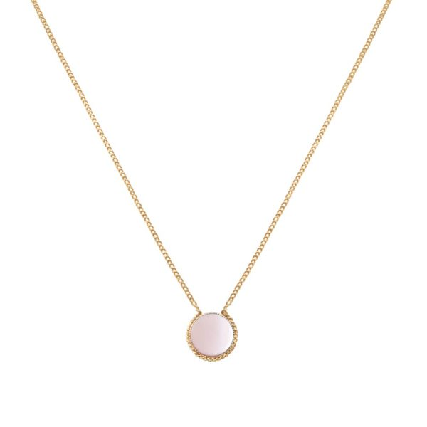 Collier doré nacre rose Lady