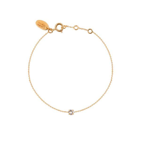 Bracelet doré Crystal Paris