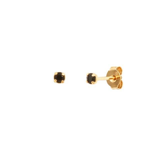 Boucles d'oreilles puces dorées Jet Paris