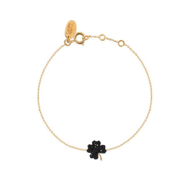Bracelet doré Jet Poker Clubs