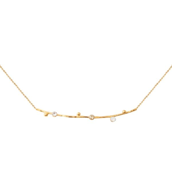 Collier doré blanc Drib
