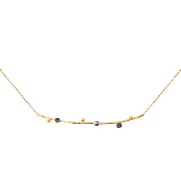 Collier doré bleu Drib