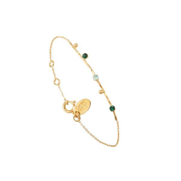 Bracelet doré vert Drib