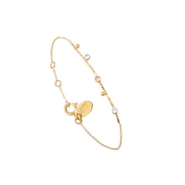 Bracelet doré blanc Drib