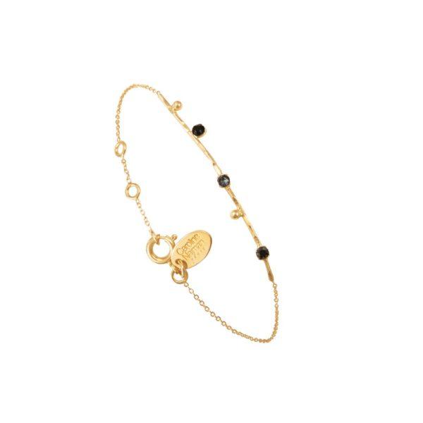 Bracelet doré noir Drib