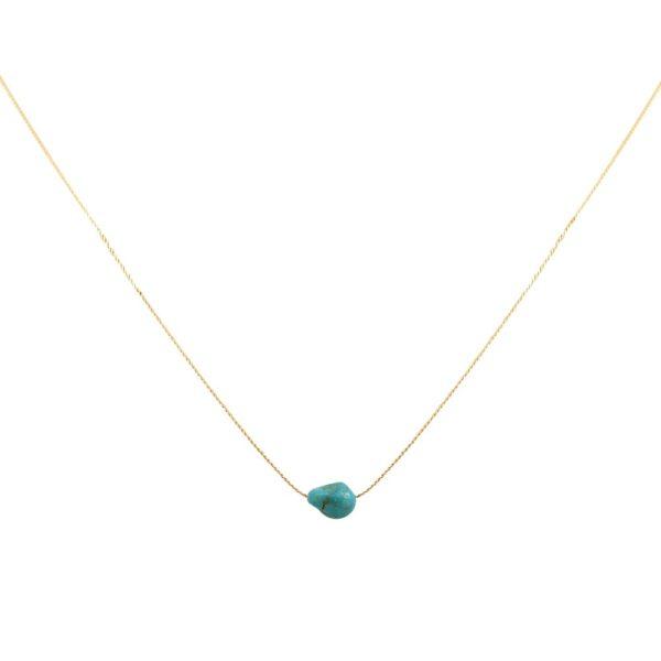 Collier doré Turquoise Queen Sea