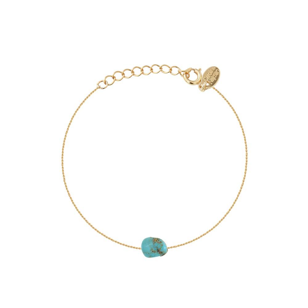 Bracelet doré turquoise Queen Sea