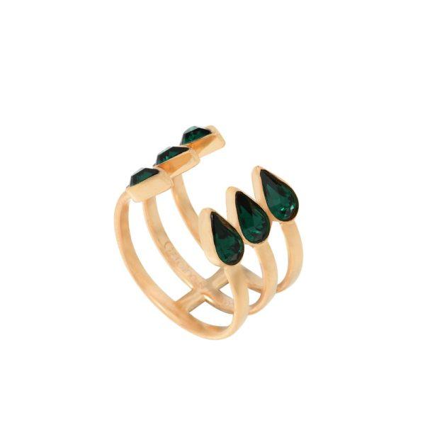 Bague dorée Emerald Vendôme Deluxe