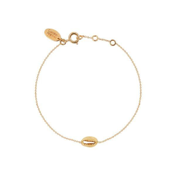 Bracelet doré mini Cauri
