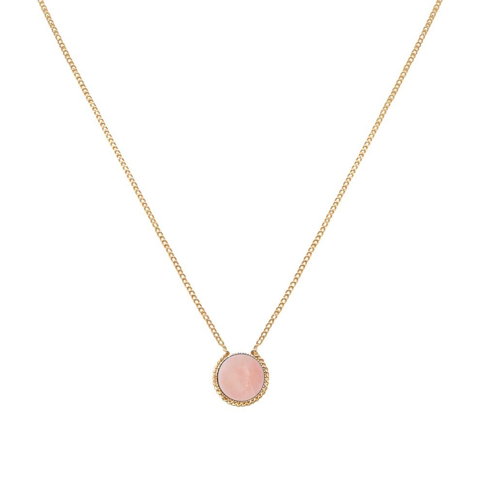 Collier doré opale rose Lady