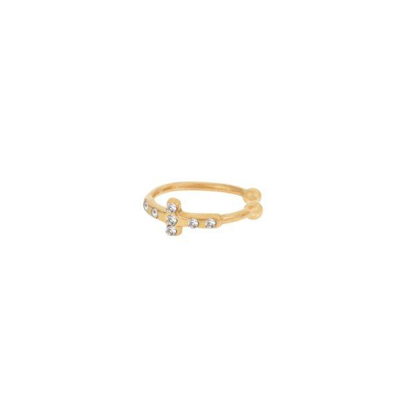 Bague d'Oreille dorée Crystal Athena