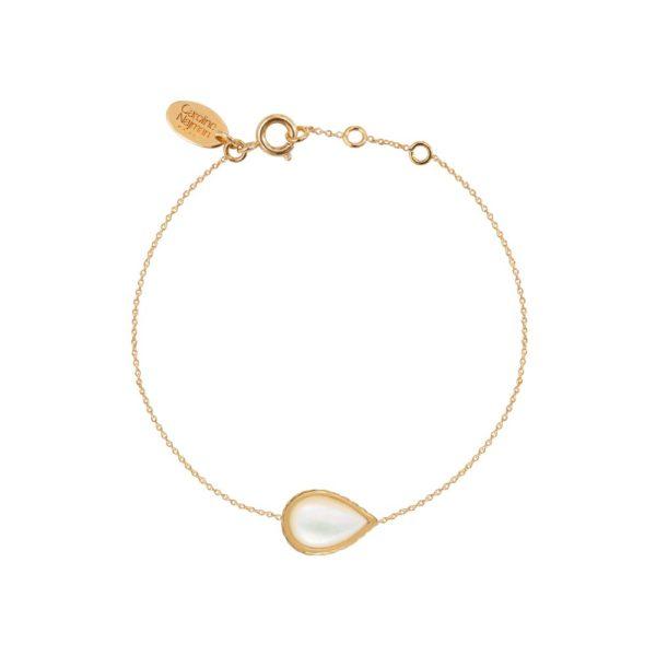 Bracelet doré nacre blanche Caprice