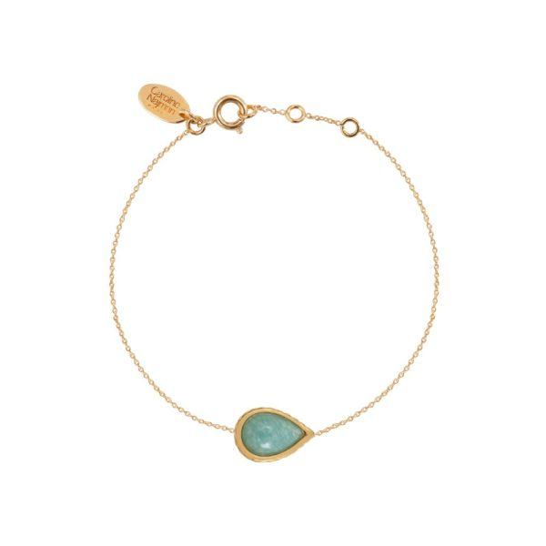 Bracelet doré amazonite Caprice