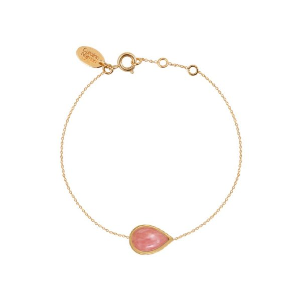 Bracelet doré rhodochrosite Caprice