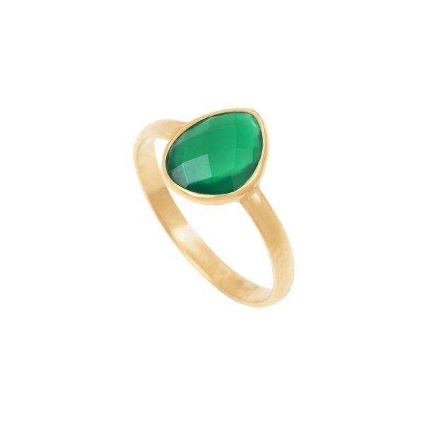 Bague Quartz vert Victoria